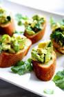 avocado chimichurri bruschetta