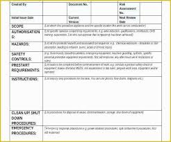 Step By Step Instruction Template Free Work Instruction Template Downloads Of Great Work