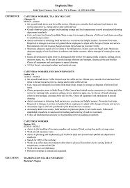 Cafeteria Worker Resume Cafeteria Worker Resume Samples Velvet Jobs 1