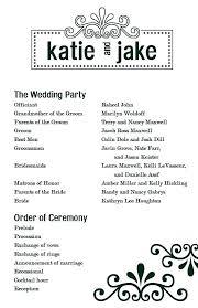 Ceremony Program Template Wedding Ceremony Program Template Great