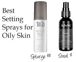 the best makeup setting spray for oily skin urban decay de slick setting spray the cool