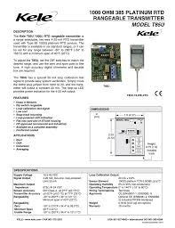 1000 Ohm 385 Platinum Rtd Rangeable Transmitter Model T85u