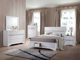 Jewel White Platform Storage Bedroom Set - Queen | Nader's Furniture