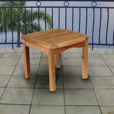 small wooden patio table