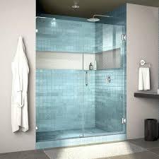 60 frameless shower door lux in hinged shower door not adjule 60 inch clear glass frameless