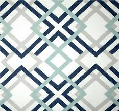 Small Picture Navy Grey Aqua Designer Home Decor Fabric by the Yard Cotton