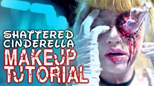 shattered cinderella beauty fx makeup tutorial glam gore disney princess you