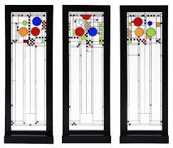 frank lloyd wright playhouse set of three stained glass panels
