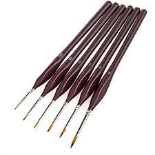 <b>6Pcs</b> Fine Detail <b>Paint Brushes</b> with Easy-grip Triangular Shape ...