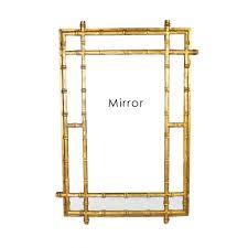 gold bamboo mirror. Gold Bamboo Mirror W