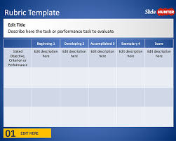 Scoring Rubric Template Free Free Rubric Template For Powerpoint Free Powerpoint