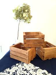 wooden crates reception decoration decorative storage