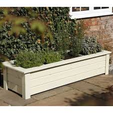 Small Picture Forest Garden Bamburgh Herb Planter 4 Compartments Rectangular Design