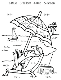 Math Coloring Pages Coloring Page First Grade Math Color Number ...