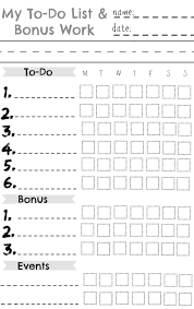 To Do List Charts Kids Chore Chart Great For A Summer Chart Nesting With Grace