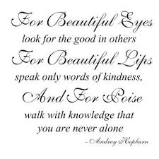 Audrey Hepburn Quote For Beautiful Eyes