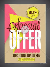 Special Offer Sale Flyer Banner Or Pamphlet With Different Discount Offer