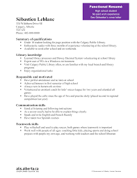Free Printable Resume For High School Student Templates At