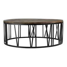 industrial round coffee table writehookstudiocom