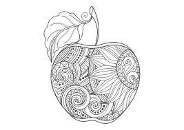りんご A4無料印刷の大人のぬりえ 切り絵 塗り絵大人の塗り絵