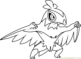 Small Picture Hawlucha Pokemon Coloring Page Free Pokmon Coloring Pages