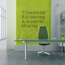 Us 26 44 Offteam Work Inspirational Words Poster Quotes Wall Stickers For Office Decor In Wall Stickers From Home Garden On Aliexpresscom