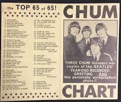 Details About 1966 Beatles Chum Chart Top 65 Vintage Toronto Radio Advertising Music