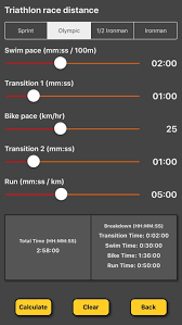 Triathlon Pace Calculator By Claire Holmes