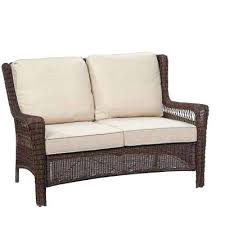 outdoor loveseat park meadows brown wicker outdoor outdoor loveseat swing cushions