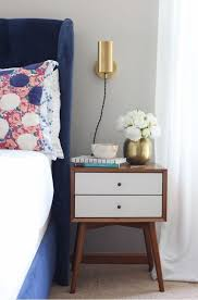 master bedroom makeover redesign with inspiration from emily henderson using mid century modern furniture and
