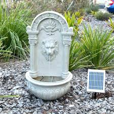 solar wall fountain small size of sand finish lion face wall fountain lion head wall mounted