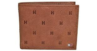 tommy hilfiger leather wallet rfid blocking slim thin bifold with removable card holder and gift box in brown for men lyst