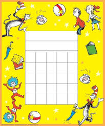 Dr Seuss Chart Eureka Back To School Dr Seuss The Cat In The Hat Mini Reward Charts For Kids With Stickers 736pc 5 W X 6 H