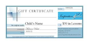 Guitar Lesson Gift Certificate Template Tuition Fees Inspiration Studios