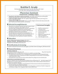 Physician Assistant Resume Template Classy Physician Assistant Resume Examples Fresh Physician Assistant Resume