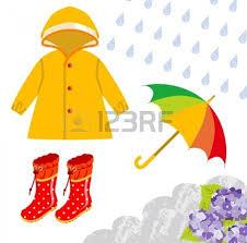 Rainy day clothes clipart