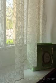 stella stunning french embroidered light ivory color continuous lace full lenght net curtain by the yard or made to order