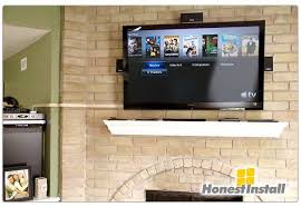 how to hide tv wires in wall above fireplace new how to hide tv cables brick