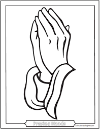 catholic prayers printable praying hands coloring page