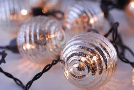 Mercury Glass String Lights Globe Lights Mercury Glass String Light End To End 6ft
