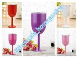2019 hot 10oz wine glasses stainless steel double wall vacuum insulated cups with lids goblet bilayer from whole homegarden 7 14 dhgate com