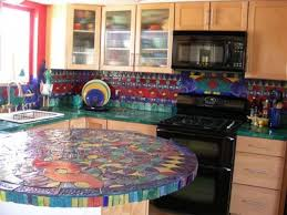 Unique kitchen countertops designs with contemporary furniture; stunning  kitchen countertops with colorful design