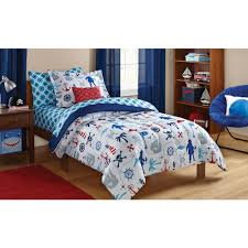 Kids Bedroom Bedding Mainstays Kids Pirate Bed In A Bag Bedding Set Walmartcom