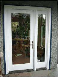 double swing patio doors architect series single french door with sidelight