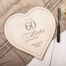 Am liebsten möchte man natürlich diesen besonderen moment mit seiner ganzen familie und allen. Herzbrett Mit Gravur Diamantene Hochzeit Personalisiert