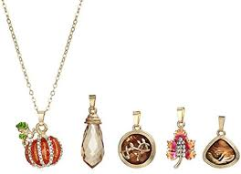 napier women s metallic multi colored fall changeable necklace set gold