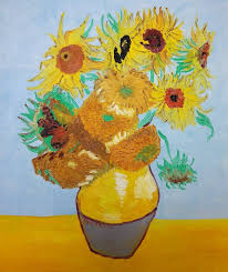 saatchi art artist pawel prus painting sunflowers inspired by vincent van gogh