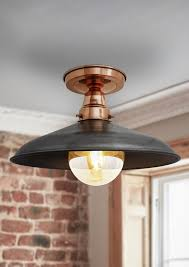Our beautiful Vintage Industrial Barn Flush Mount Ceiling Light by  Industville is the perfect choice for