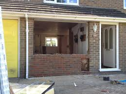 Example of garage conversion  during construction