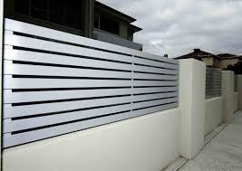 modern metal fences. Brilliant Fences Archaic Modern Metal Fence Panel Design Modern Fences Ideas With White  Color Wall And Rhkopyokcom Metal Intended Fences N